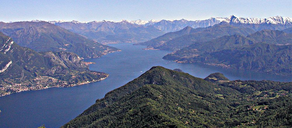Il Lago di Como dal M. S. Primo